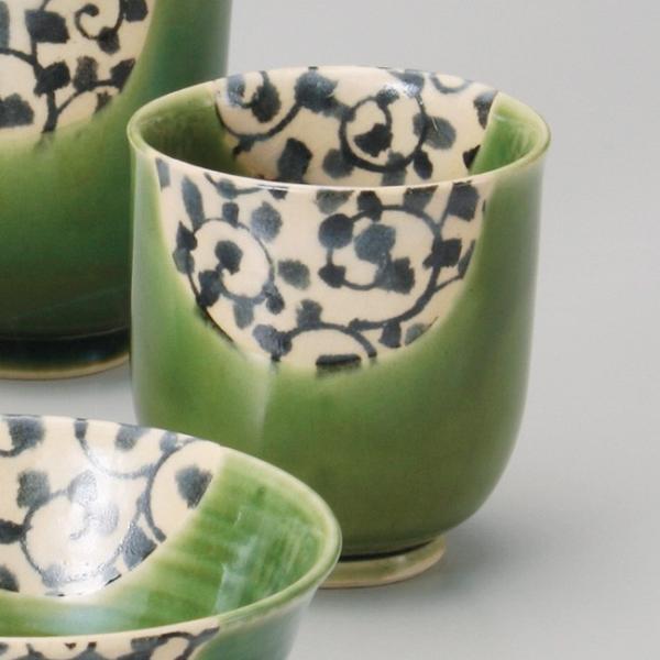 和食器 唐草織部湯呑 小 湯のみ 湯飲み コップ お茶 緑茶 カフェ おうち うつわ 陶器 美濃焼 日本製 おしゃれ|sara-cera