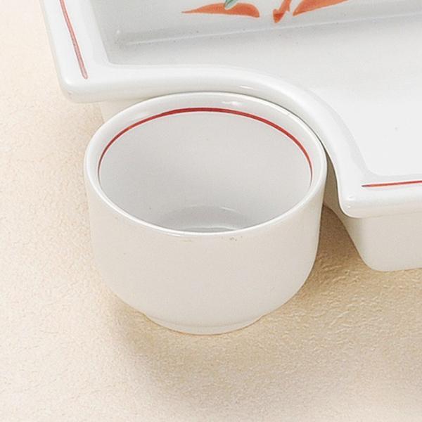 和食器 小さな赤絵花 小鉢 小皿 豆皿 4.8×3.2cm うつわ 陶器 おしゃれ おうち