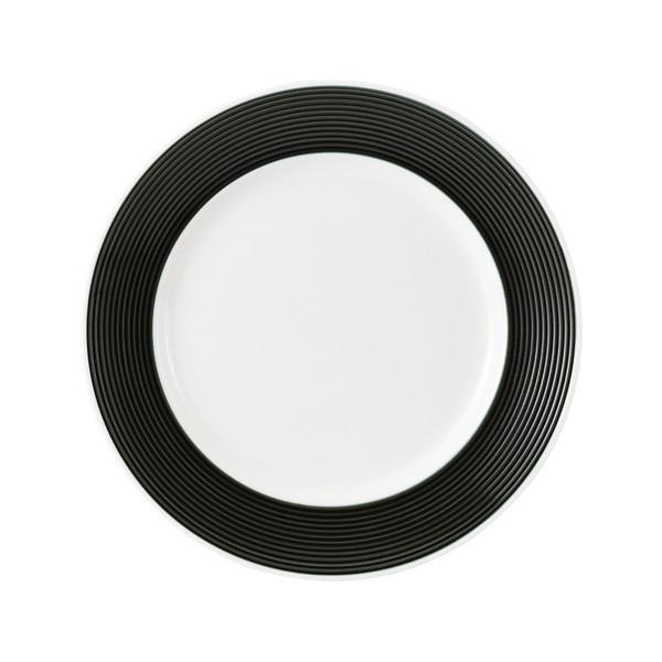 (業務用・丸皿)ラッフル 25.5cmプレート カシス ブラック(入数:5)