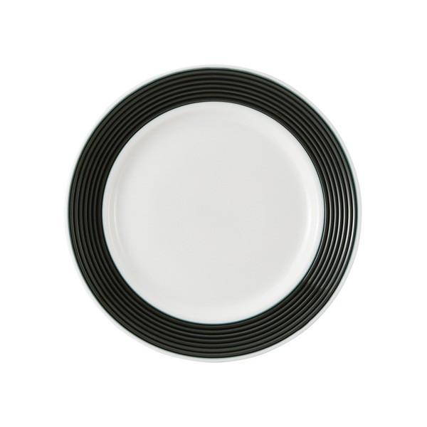 (業務用・丸皿)ラッフル 19cmプレート カシス ブラック(入数:5)