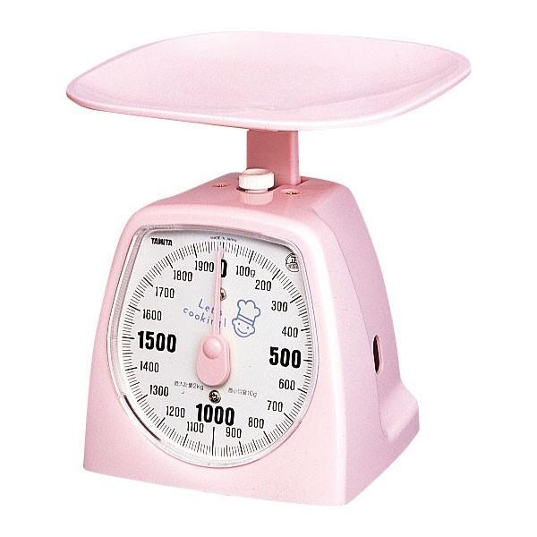 (業務用・上皿はかり)クッキングスケール1437 タニハンド1kg ピンクタニタ(入数:1)