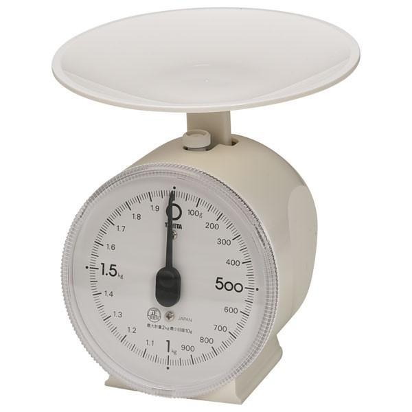(業務用・上皿はかり)クッキングスケール1431 タニエクボ2kg ホワイトタニタ(入数:1)