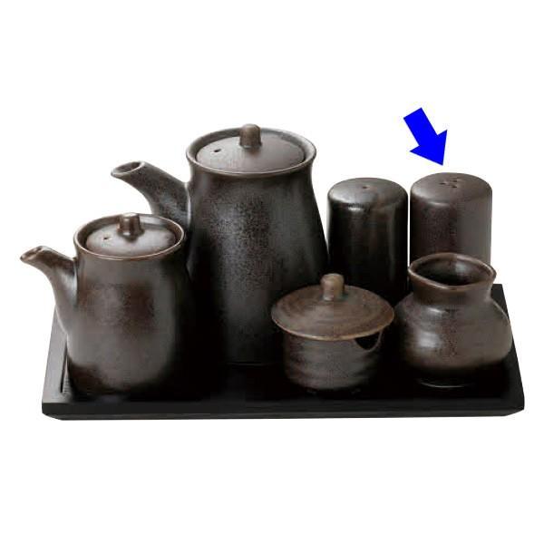 (業務用・塩・胡椒入れ)7182-22 鉄砂 胡椒入 (3穴)(入数:1)