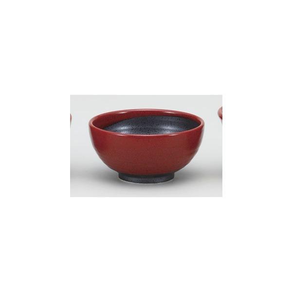 (業務用・丼・多用碗)赤柚子八重がけ砂目5.0丸丼(入数:5)