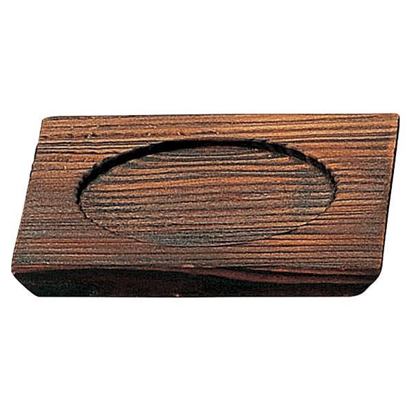 (業務用・茶碗蒸し台)金吹きヒワ武蔵野 焼杉台[50533-148](入数:5)