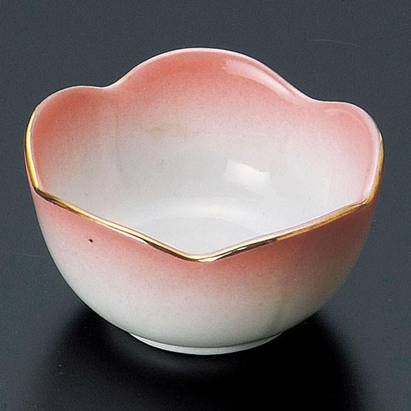 (業務用・珍味)ピンク梅型珍味鉢[14036-188](入数:1)