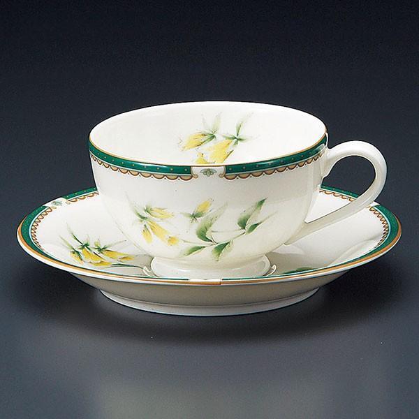 (業務用・ティーカップ)NBハーブ紅茶碗皿[72712-448](入数:5)