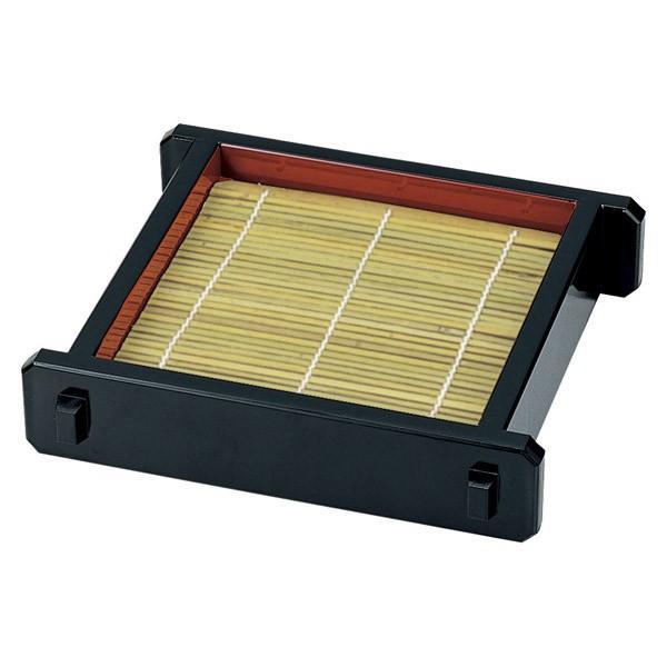 (業務用・すのこ)[竹]ツノセイロ(小) 黒内朱竹ス129×131[82602-818](入数:5)