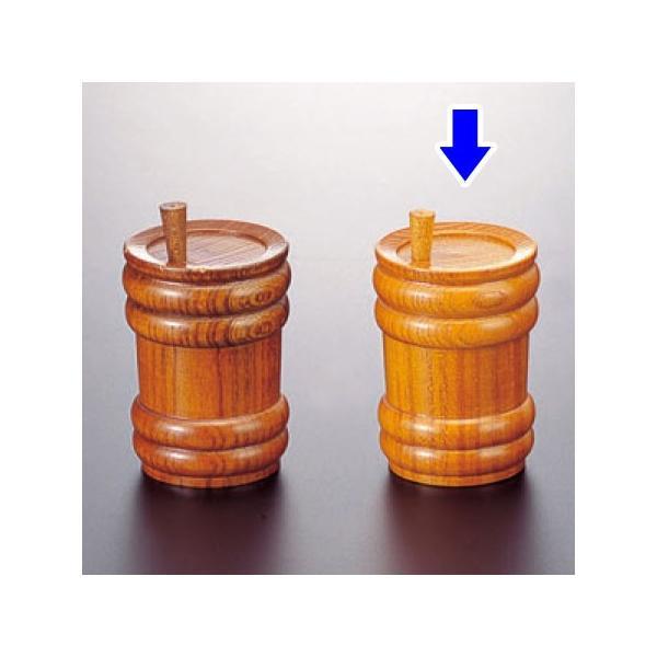 (業務用・塩・胡椒入れ)桶型薬味入 黄(入数:5)