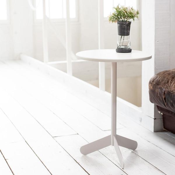 ベッドサイドテーブル テーブル 白 ホワイト[b2c サイドテーブル ラウンド ]#SALE_FA #SALE_FA sarasa-designstore