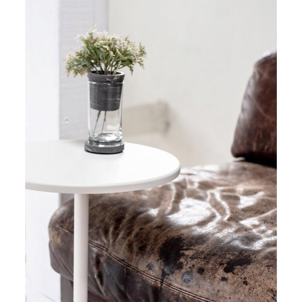 ベッドサイドテーブル テーブル 白 ホワイト[b2c サイドテーブル ラウンド ]#SALE_FA #SALE_FA sarasa-designstore 03