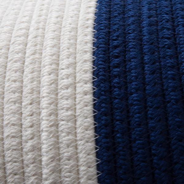 洗濯かご 小物入れ まとめ買い[セット販売●b2c ツートンコットンロープバスケット(ツートン/上ホワイト&下ネイビー)【SML各1個計3個】] sarasa-designstore 06