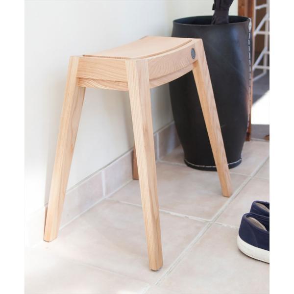 スツール 木製/b2cスタッキング・スツール(オーク)|sarasa-designstore|02