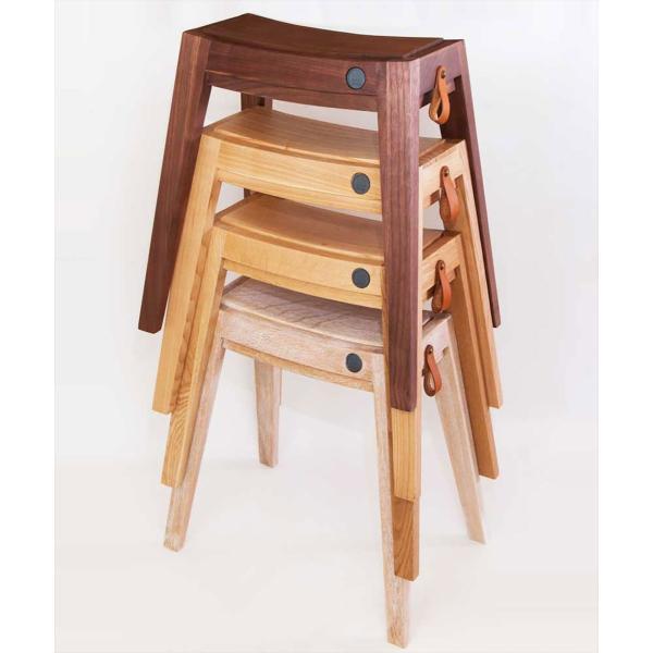 スツール 木製/b2cスタッキング・スツール(オーク)|sarasa-designstore|05