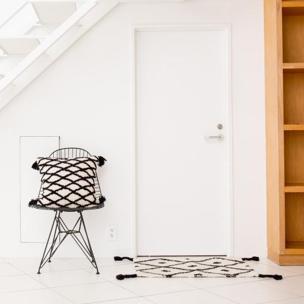 45×45 おしゃれ かわいい 北欧 カフェ モノトーン コットン タッセル [b2c クッションカバー チェック]|sarasa-designstore|04