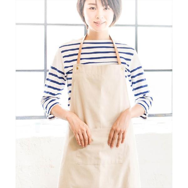 レザーxオーガニックコットン エプロン sarasa-designstore 02