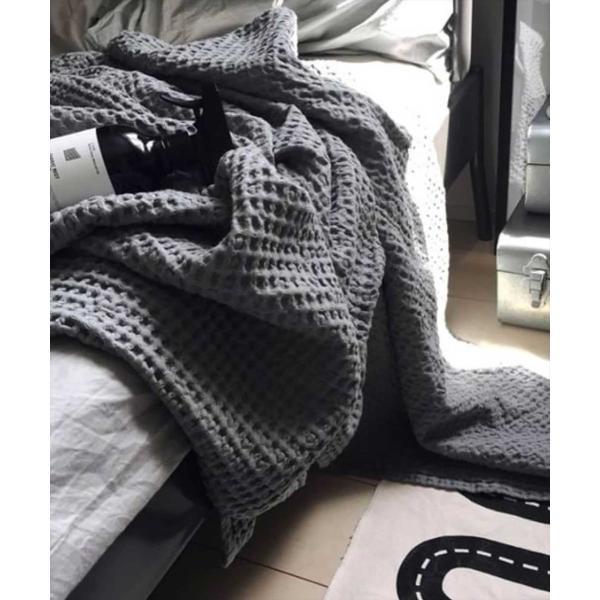 オーガニックコットン ワッフル タオルケットS|sarasa-designstore|02