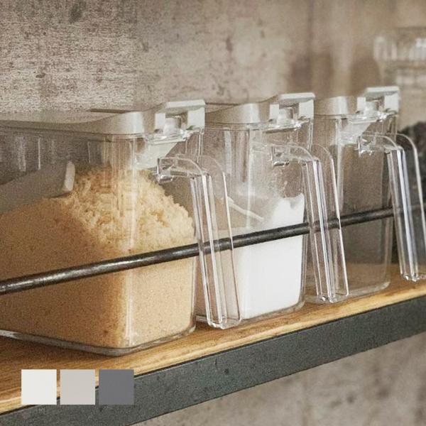 調味料入れ 容器 砂糖/塩 スパイスコンテナ|sarasa-designstore