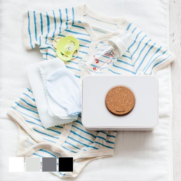 ケース 詰替 おしりふき 出産準備 出産祝い モノトーン シンプル [b2c ウェットティッシュホルダー(コルク蓋タイプ)] sarasa-designstore