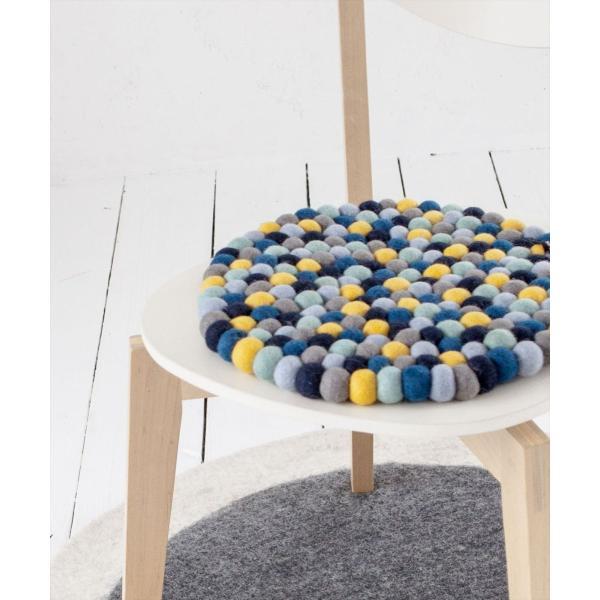 クッション シンプル 丸[b2c フェルトボール チェアパッド ラウンド Φ36]#SALE_IZ sarasa-designstore 03