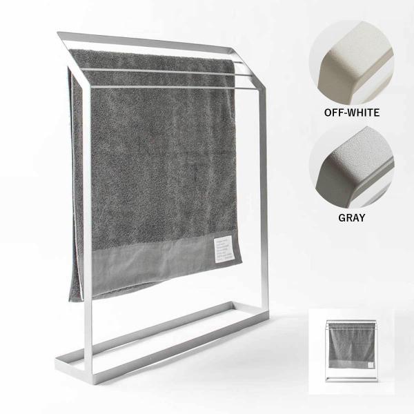 タオル掛け 洗面所 脱衣所 スリム 薄型 シンプル モノトーン [nsp タオルスタンド L ]#SALE_BT|sarasa-designstore