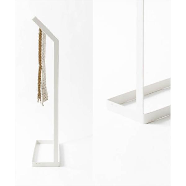 タオル掛け 洗面所 脱衣所 スリム 薄型 シンプル モノトーン [nsp タオルスタンド L ]#SALE_BT|sarasa-designstore|03