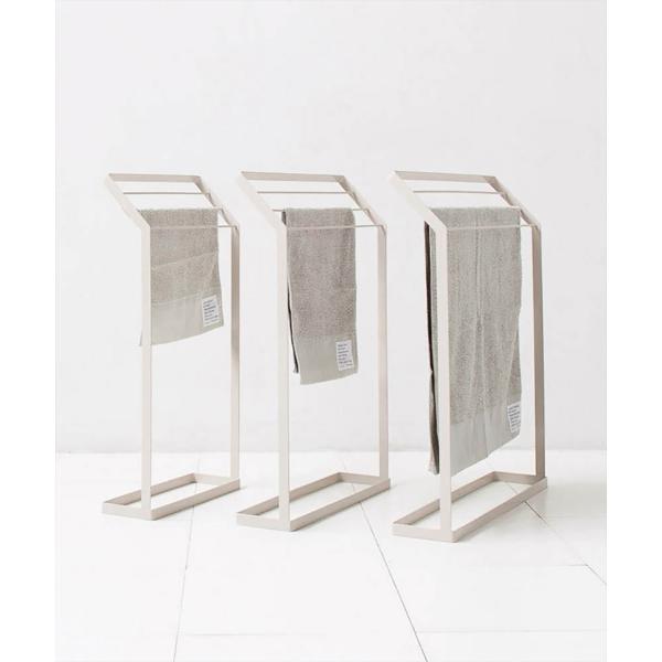 タオル掛け 洗面所 脱衣所 スリム 薄型 シンプル モノトーン [nsp タオルスタンド L ]#SALE_BT|sarasa-designstore|06
