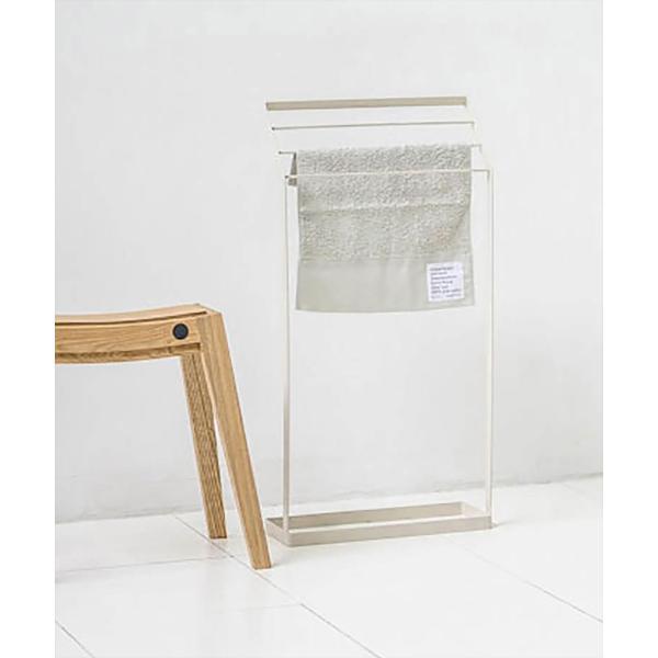 タオル掛け 洗面所 脱衣所 スリム 薄型 シンプル モノトーン [nsp タオルスタンド L ]#SALE_BT|sarasa-designstore|07
