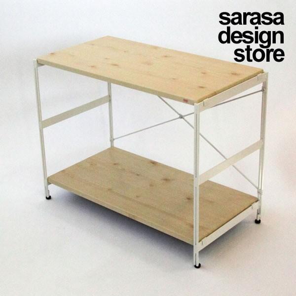 オープンラック スチールラック ウッドラック 収納棚 リビング収納 木製 ナチュラル [nsp ラック ロー PVCタイプ(標準セット/棚板2枚)※組立式]|sarasa-designstore|02