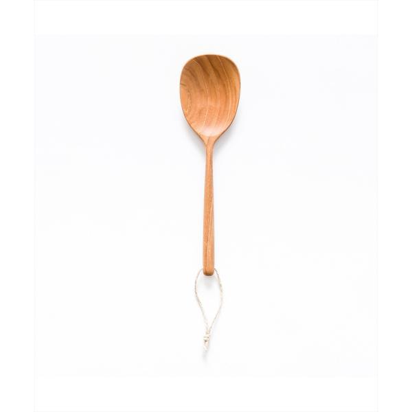 木 木製 ウッド 天然 カトラリー 食器[b2c チークサービングツール ラージスプーン]|sarasa-designstore|02