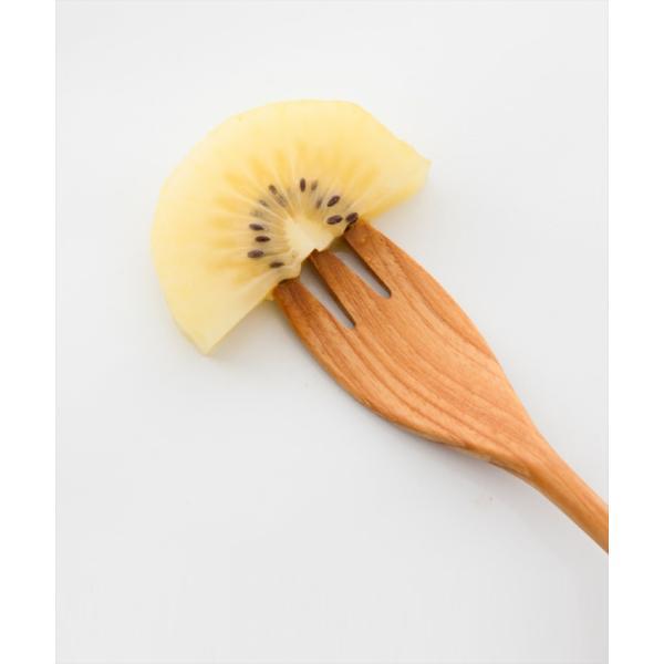 メール便対応|デザートフォークとしておすすめのチーク製のウッドカトラリー/b2cチークフォーク S|sarasa-designstore|03