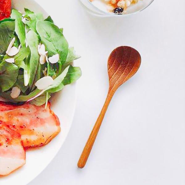 木 木製 ウッド 天然 カトラリー 食器[メール便可|b2c チークスプーン S]|sarasa-designstore