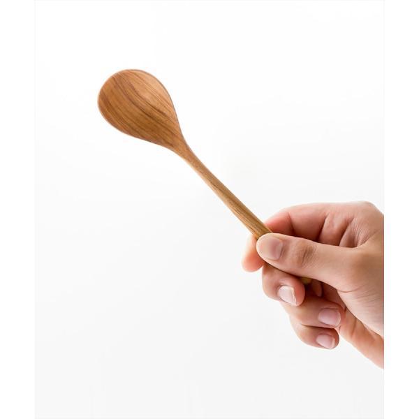 木 木製 ウッド 天然 カトラリー 食器[メール便可|b2c チークスプーン S]|sarasa-designstore|02