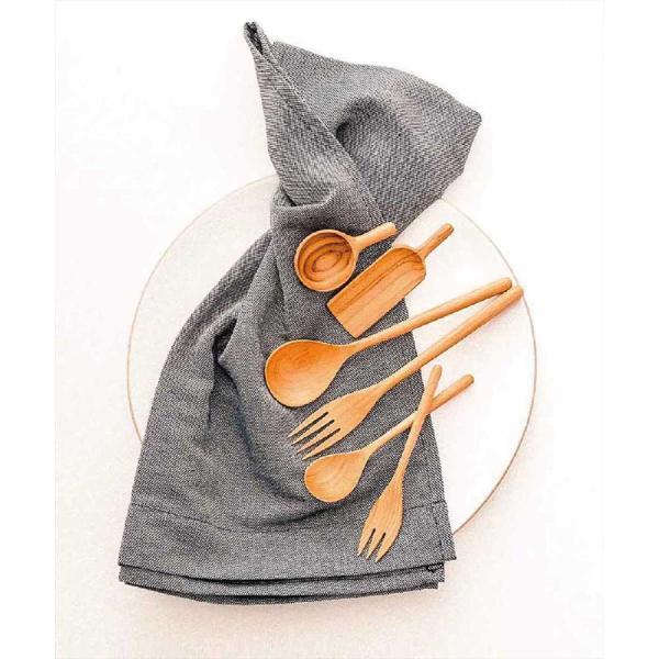 木 木製 ウッド 天然 カトラリー 食器[メール便可|b2c チークスプーン S]|sarasa-designstore|05