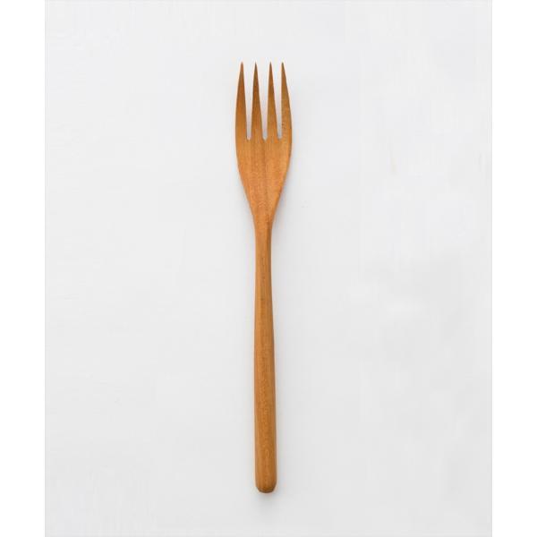 木 木製 ウッド 天然 カトラリー 食器[メール便可|b2c チークフォーク L]#SALE_TB|sarasa-designstore|02