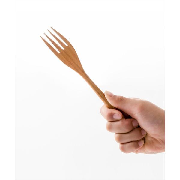 木 木製 ウッド 天然 カトラリー 食器[メール便可|b2c チークフォーク L]#SALE_TB|sarasa-designstore|03