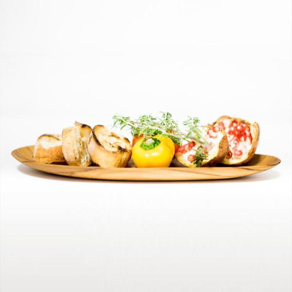 木 木製 ウッド 天然 食器[メール便可|b2c チーク オーバルプレート L]#SALE_TB|sarasa-designstore