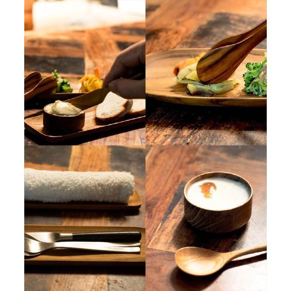 木 木製 ウッド 天然 食器[メール便可|b2c チーク オーバルプレート L]#SALE_TB|sarasa-designstore|04