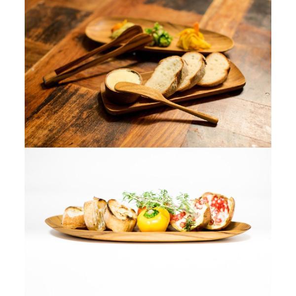 サラダなどに最適な大ぶりなシンプルなチーク製のトング/b2cチーク トングオーバル L|sarasa-designstore|06