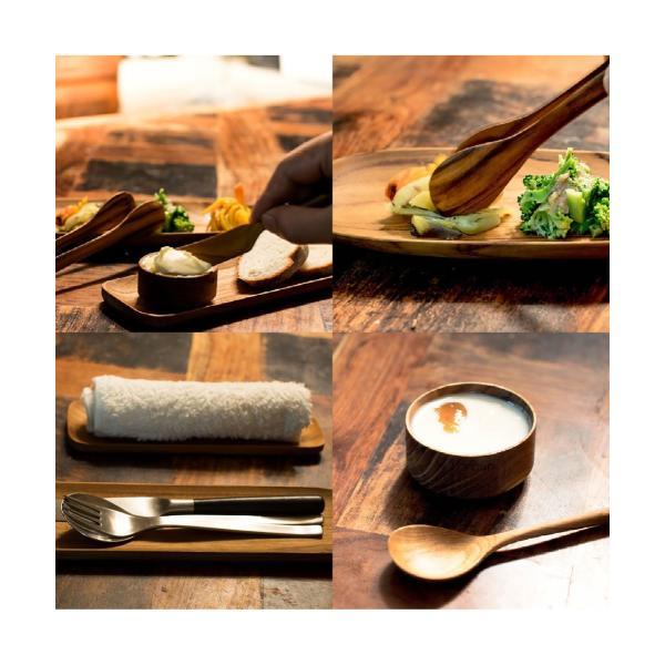 サラダなどに最適な大ぶりなシンプルなチーク製のトング/b2cチーク トングオーバル L|sarasa-designstore|07