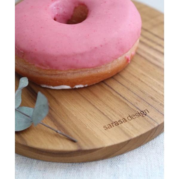 木 木製 ウッド 天然 食器[b2c チーク ウッドボード ラウンド]#SALE_KT sarasa-designstore 03