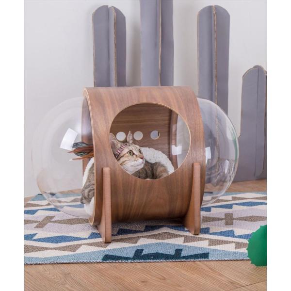 ペットベッド ペットハウス [〈MYZOO マイズー〉宇宙船アルファ ネコハウス] サラサデザインストア sarasa-designstore 04
