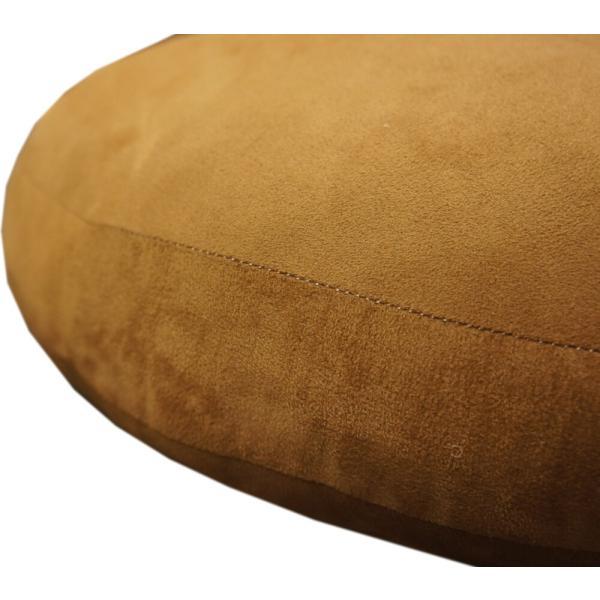 60Rcm ブラウン色「マシュマロ」抱きしめたくなる、ふんわりモッチモッチのクッション【ボリュームタップリの弾力性】|saruru|03
