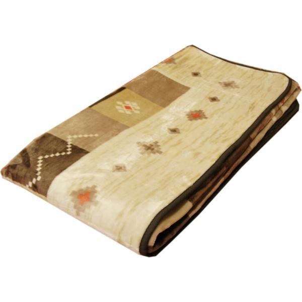 200x250cm 「ギャベ」柄のご家庭で洗えるラグ ブラウン色 【不織布貼】|saruru|04