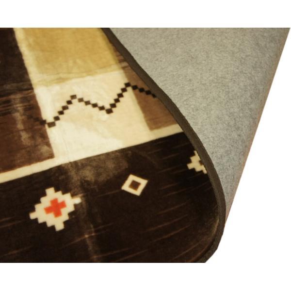 200x250cm 「ギャベ」柄のご家庭で洗えるラグ ブラウン色 【不織布貼】|saruru|05