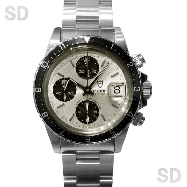 【中古】 チュードル メンズ クロノタイム (Ref:79170) シルバー satindollwatch