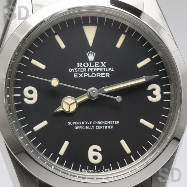 【アンティーク】 ロレックス メンズ エクスプローラーI (Ref:1016) ブラック|satindollwatch|02