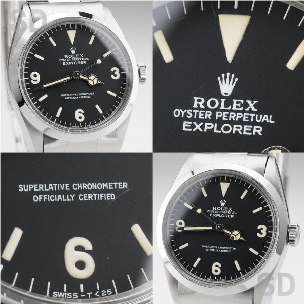 【アンティーク】 ロレックス メンズ エクスプローラーI (Ref:1016) ブラック|satindollwatch|03