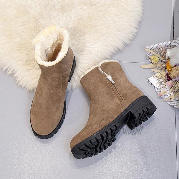 ムートンブーツ レディース 裏ボアブーツ ショートブーツ 裏起毛 暖か 保温 防寒 防風 秋 冬 カワイイ サイドジップ