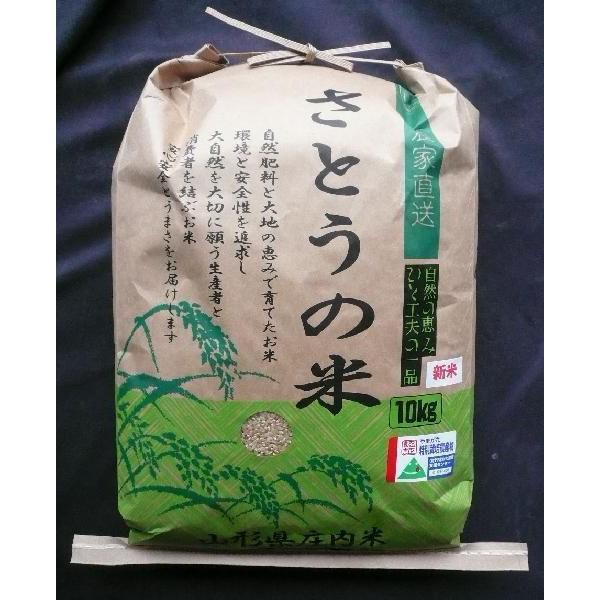 山形県庄内産 はえぬき 玄米10kg 特別栽培米 令和2年産